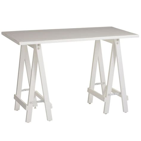 sawhorse desk white antique white