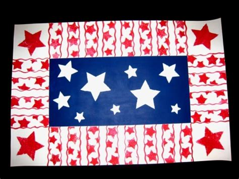 American Handmade Crafts - american celebration rug floorcloth by beelynndesigns