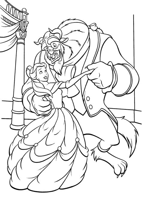 And The Beast Coloring Pages Free Printable and beast coloring pages coloring home