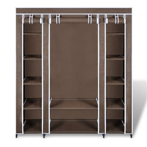 kitchen closet organizer brown portable closet fabric cabinet storage organizer