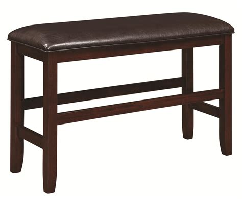 dupree counter height bench 105477 coaster dupree counter height bench in dark brown 105477