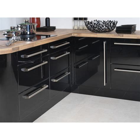 Cheap Kitchen Unit Doors And Drawer Fronts Apollo Black High Gloss Vinyl Wrapped Replacement Kitchen Cabinet Unit Doors Drawer Fronts