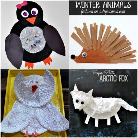 Animal Paper Crafts - penguin and polar handprint book covers