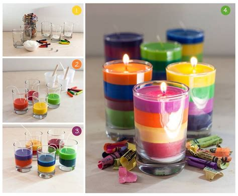 how to make crayon candles at home step by step