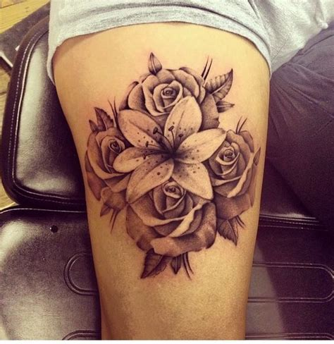 rose tattoo arm pinterest lily and rose arm tattoo instagram pinterest rose