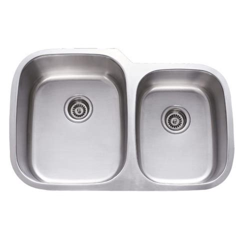 31 Inch Stainless Steel Undermount 60 40 Double Bowl Kitchen Sinks Stainless Steel