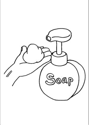soap coloring soap dispenser coloring page
