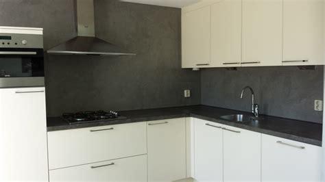 achterwand keuken spachtelputz betonlook stucwerk keuken