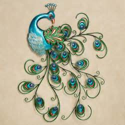 Peacock Decoration by Pretty Peacock Indoor Outdoor Metal Wall Art