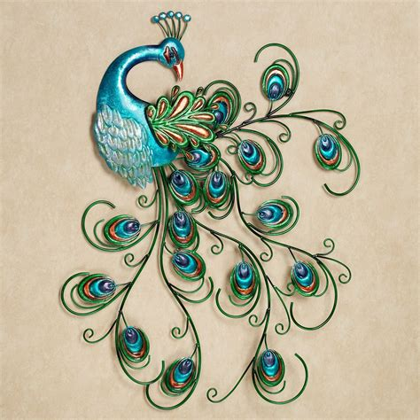 peacock decoration the gallery for gt metal peacock wall art