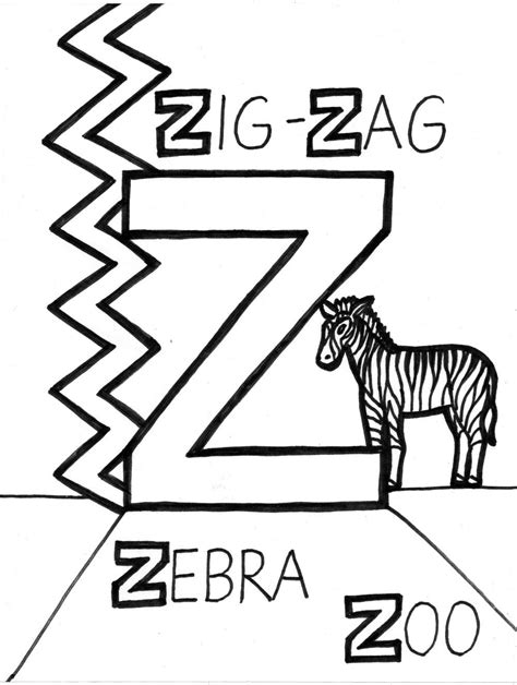 coloring page letter z letter z coloring pages to download and print for free