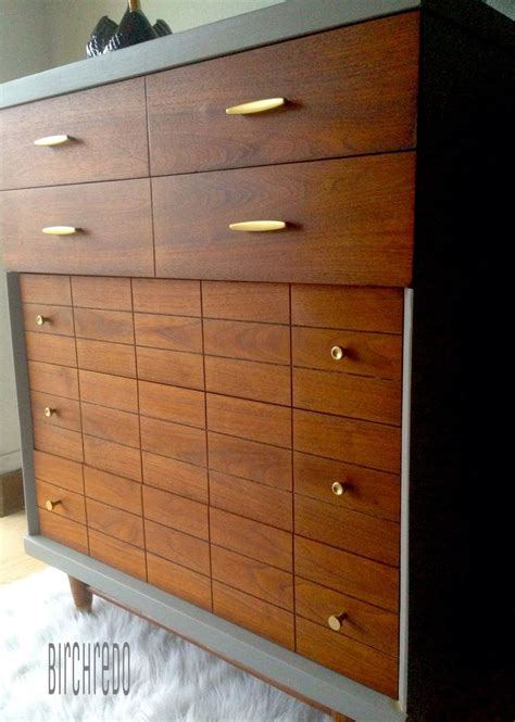 Dovetail Dresser by Mid Century Modern Harmony House Dresser Refinished Walnut