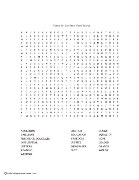 Frederick Search Word Search Puzzles