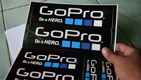 Asli Gopro 3 cara mendapatkan stiker gopro asli gratis dikirim dari los