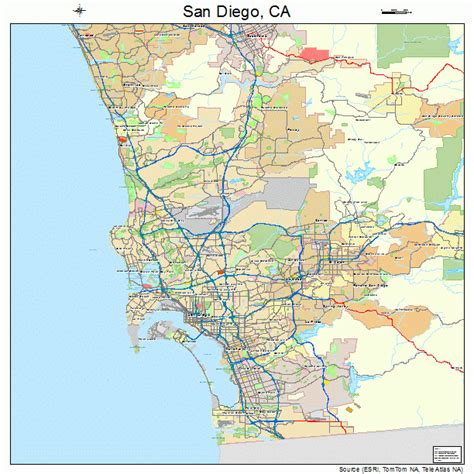 map of san diego ca san diego california map 0666000