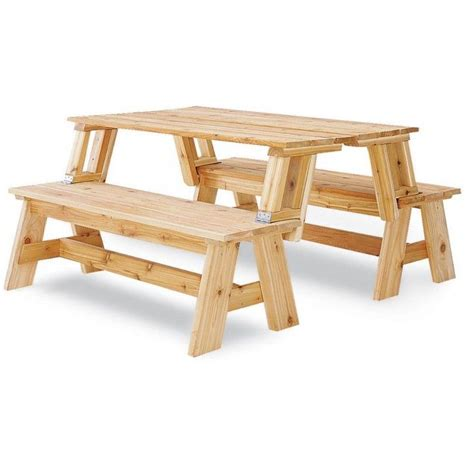 bench becomes picnic table picnic table bench combo plan picnic tables