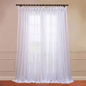 signature double layered white 100 x 120 inch sheer