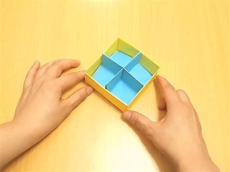 Origami Box With Divider - how to fold a divider for an origami box with pictures