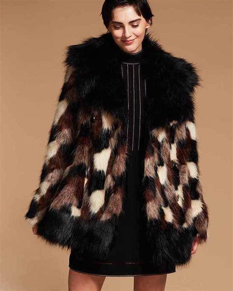Patchwork Faux Fur Coat - marc fall 2017 lookbook at bergdorf goodman nawo