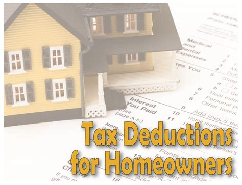 tax deductions for homeowners property taxes mortgage