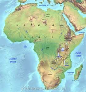 africa map geography geographical map of africa