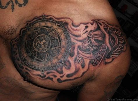 cool chest tattoos 50 best zodiac aztec tattoos on chest