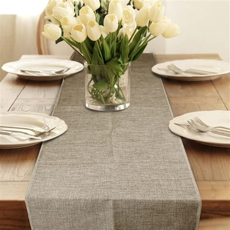 Linens Part Ii Designing The Tables by Table Runner Burlap Jute Imitated Linen Rustic