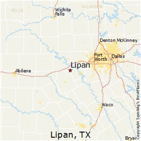 lipan texas map best places to live in lipan texas