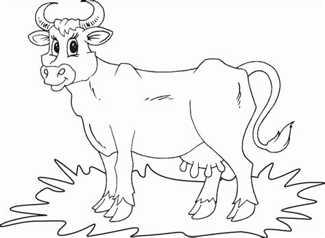 simple cow coloring page simple cow coloring page coloring com