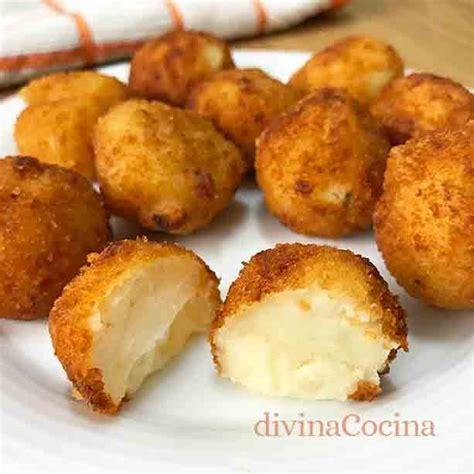 cocina patatas receta de bocaditos de patata y queso divina cocina