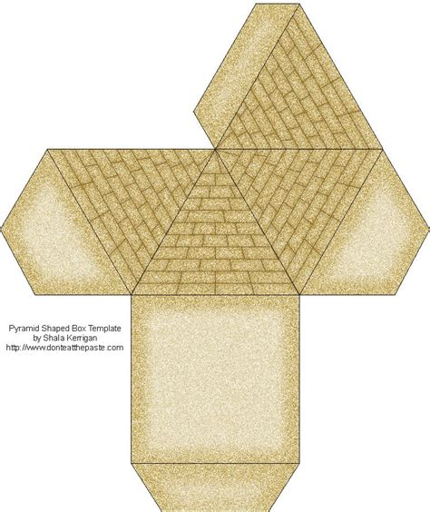 Papercraft Pyramid - pyramid box template