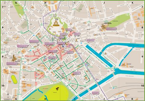 map of city of caen city center map