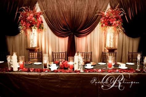 wedding backdrop design red red wedding head table decor r wall decal