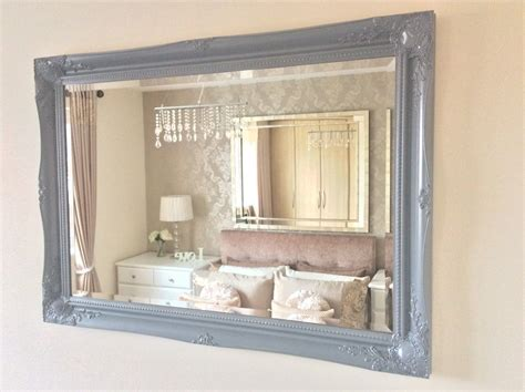 large shabby chic mirror large grey shabby chic ornate decorative wall mirror free