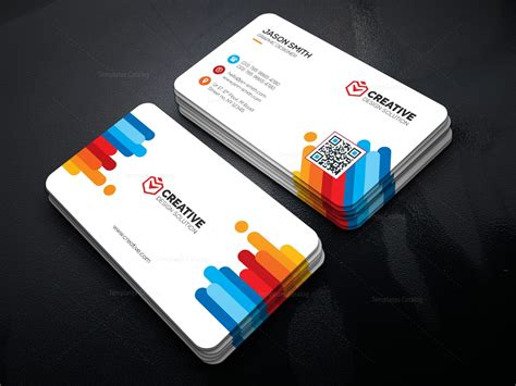 Bright Business Card Template 000478 Template Catalog Custom Card Template