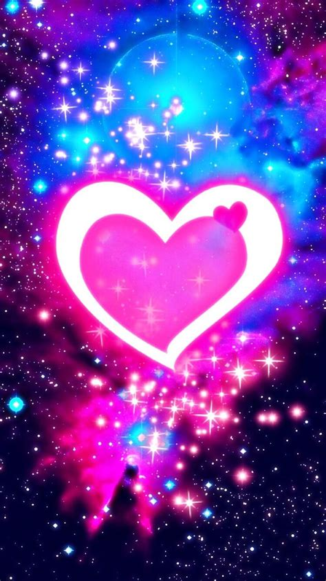 wallpapers and backgrounds galaxy pink hearts wallpaper