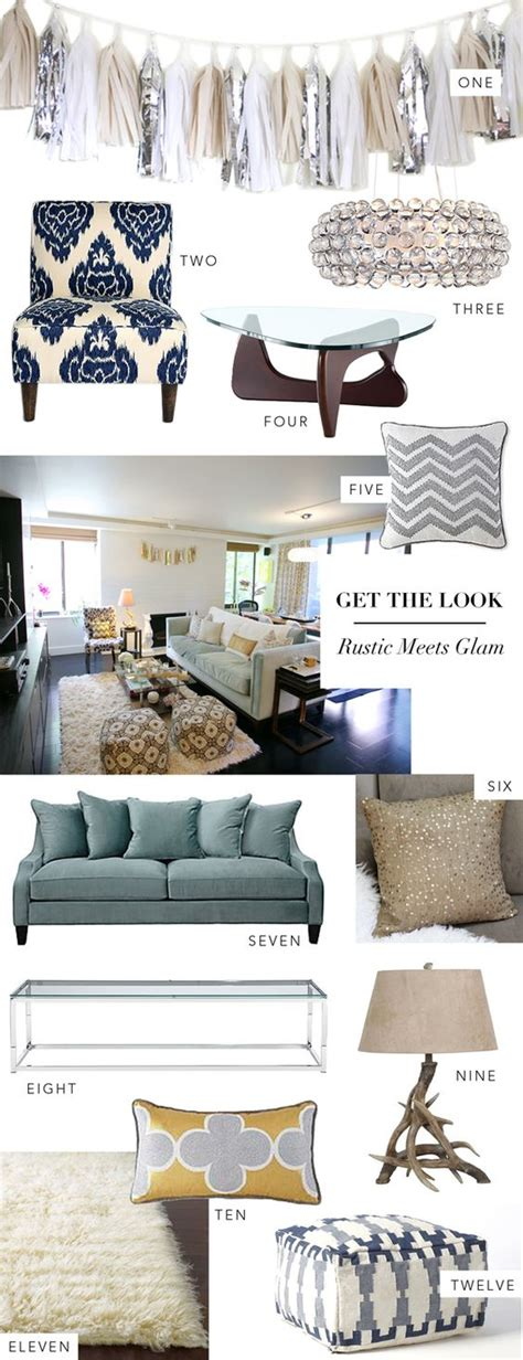 rustic glam home decor interior get the look rustic meets glam urban