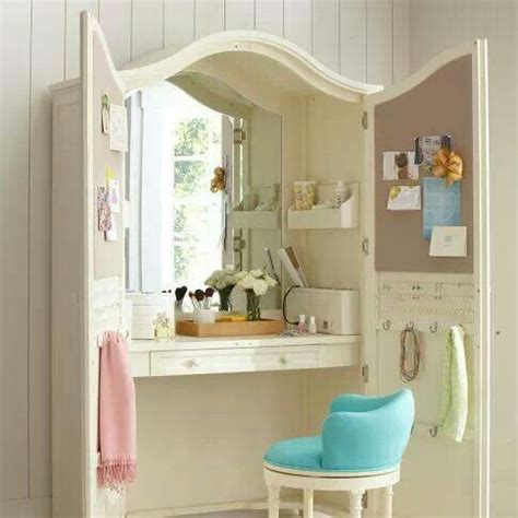 girls bedroom vanity repurpose armoire into vanity or desk that hides the