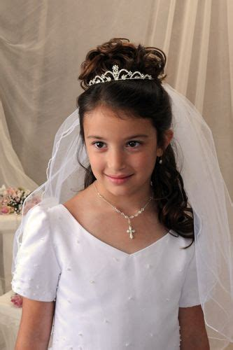 girls hairstyles for first holy communion first communion tiaras gabrielle little gal hair do s