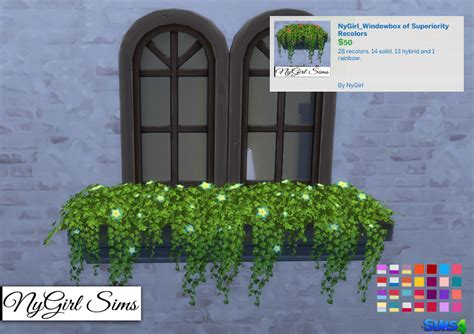 Sims 3 Planter Box by Nygirl Sims 4 Windowbox Of Superiority Recolors