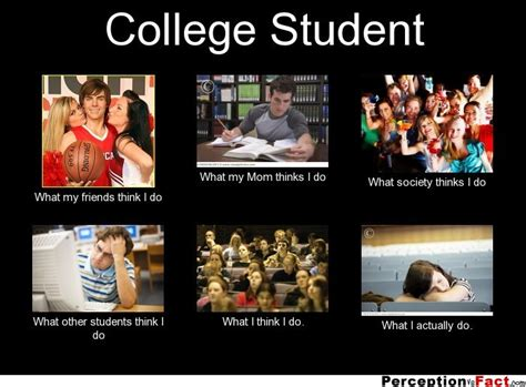 College Sleep Meme - college student what people think i do what i really