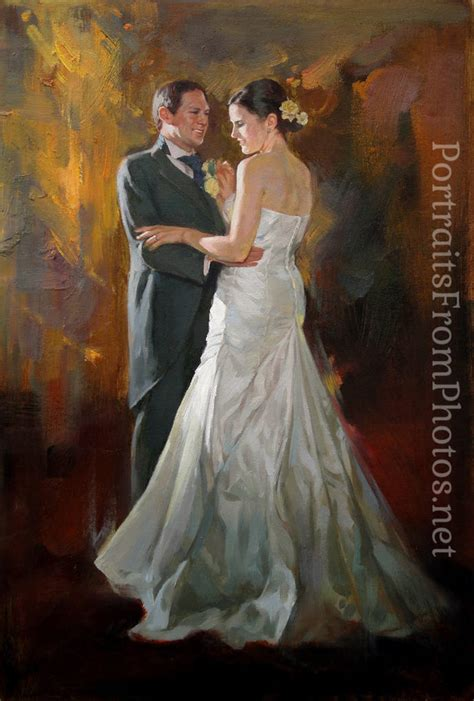 Wedding Portrait by Wedding Portrait Painting Portraits From Photos