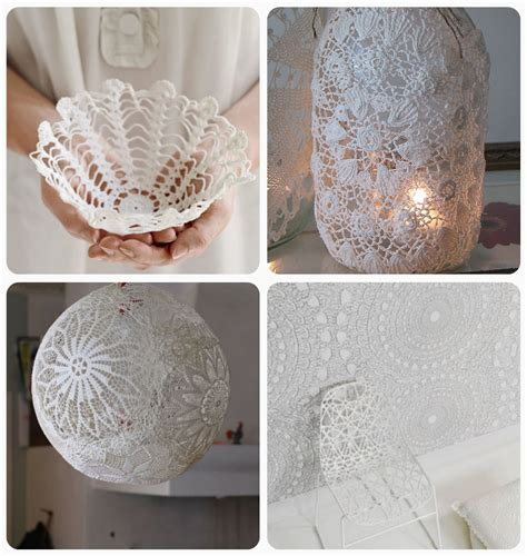 Doily Paper Craft - doily crafts diy roundup shannon