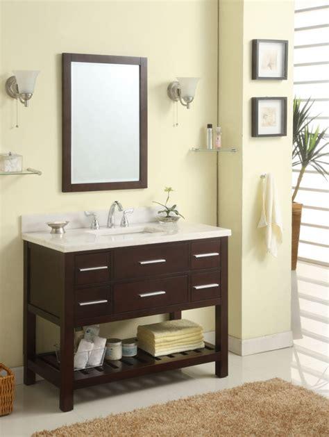 Open Shelf Bathroom Vanities by 42 Inch Single Sink Modern Cherry Bathroom Vanity With