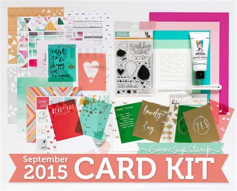 card monthly kits simon says st monthly card kits glitterangel
