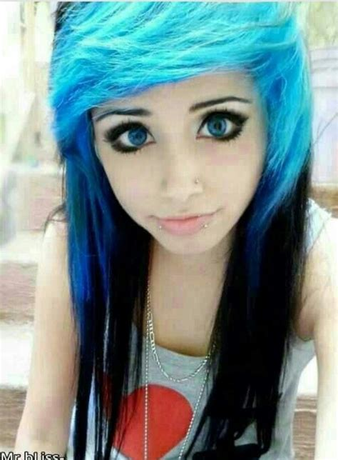 blue  black scene hair scene hair  hair