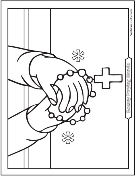 rosary coloring page printable 40 rosary coloring pages the mysteries of the rosary