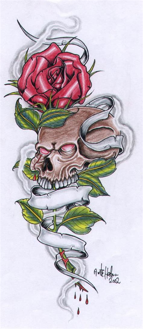 rose and banner tattoo designs gallery by floyd