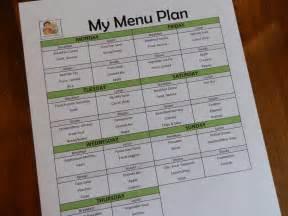 breakfast lunch dinner menu template prepared lds family menu planning using a list of master
