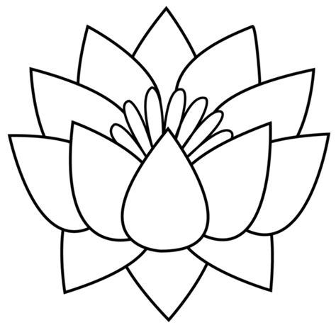 flower drawing templates lotus flower template clipart best